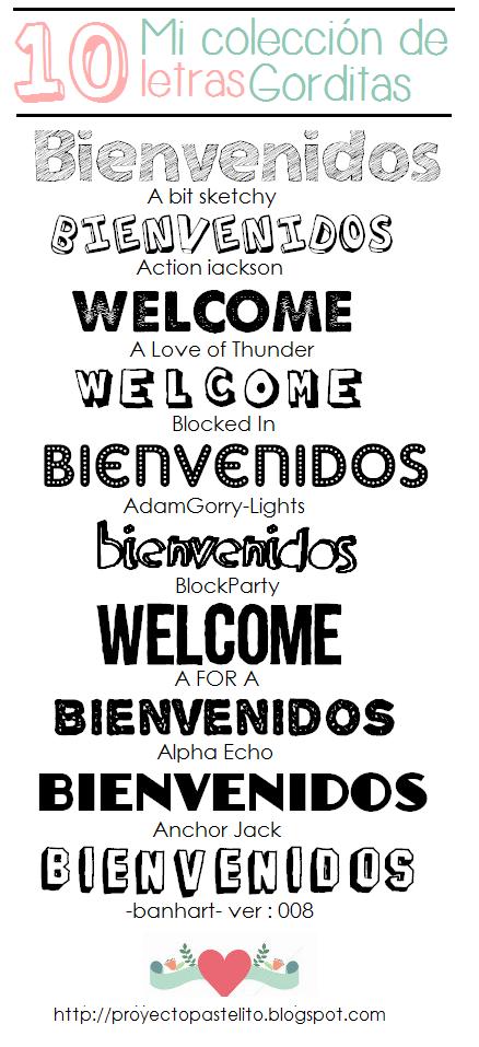 Tipos de letras bonitas proyecto pastelito - Literas bonitas ...