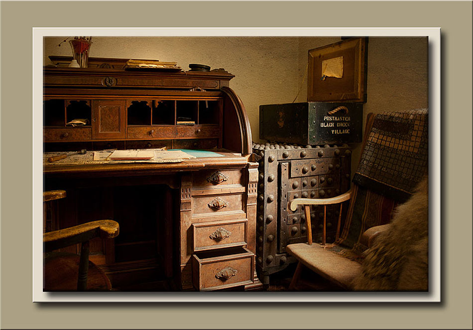 Desk from the post office located in Laskay Emporium at Black Creek Pioneer Village.  Holly Cawfield Photography