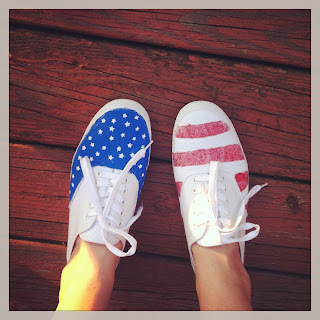 DIY Stars & Stripes sneakers for the 4th of July