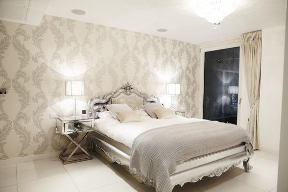 Noir blanc un style for Papiers peints pour chambre