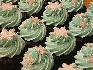 Navidad, Cupcakes Copos de Nieve