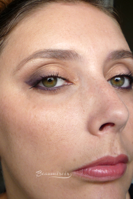 An easy peach & purple eye makeup look with Smashbox Double Exposure Palette - step by step tutorial using eyeshadows in orange, purple, plum