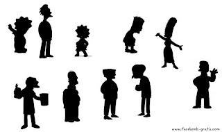Silueta familia Simpson