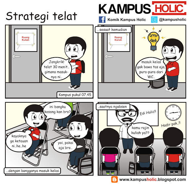 #181 Strategi telat ala mahasiswa unversitas holic komik kampus holic