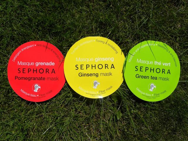 photo of sephora sheet face masks