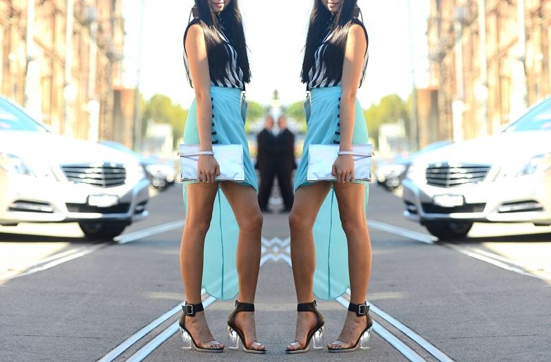 MBFWA Street style, personal style, Miss Unkon, Jeffrey Campbell, Fashion Week, Bardot, holographic