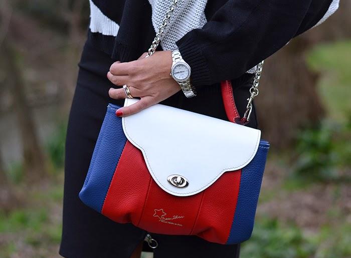 borsa rosso bianco blu