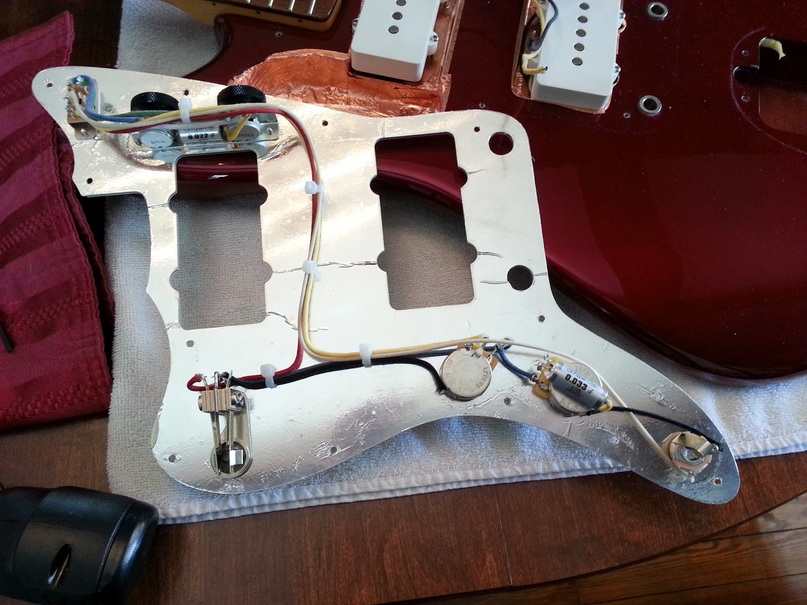 Upgrading All Fender Jazzmaster Wiring And Electronics In One Shot Squier Strat 60 Diagram Alphabet City
