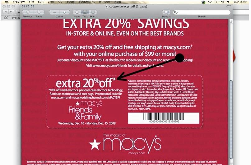 Macys coupons november 2013 apps directories