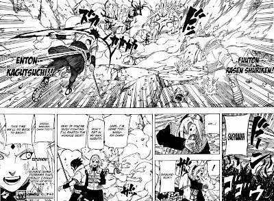 Sasuke dan Naruto menyelamatkan Sakura