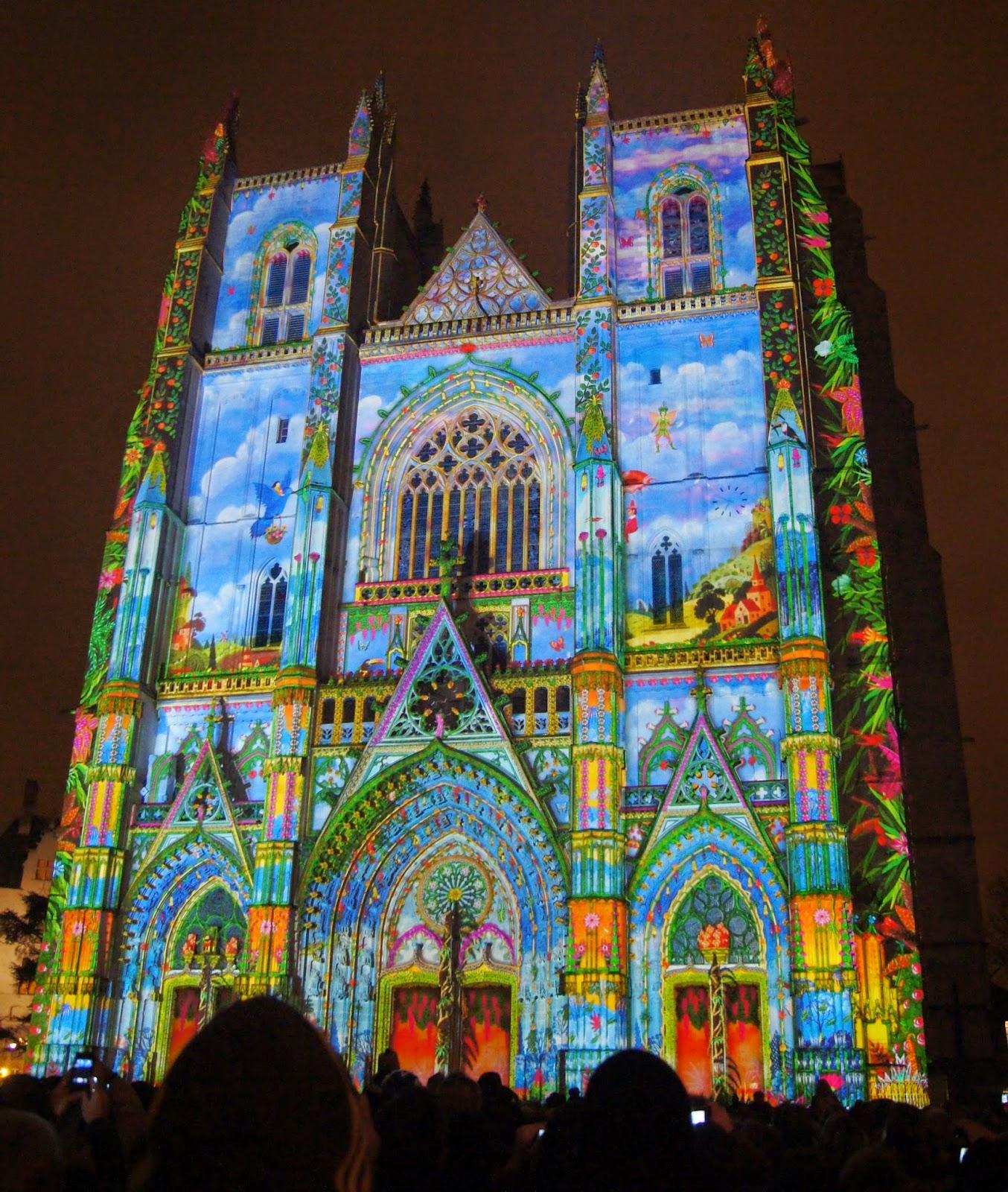 cathédrale nantes lumière illuminantes