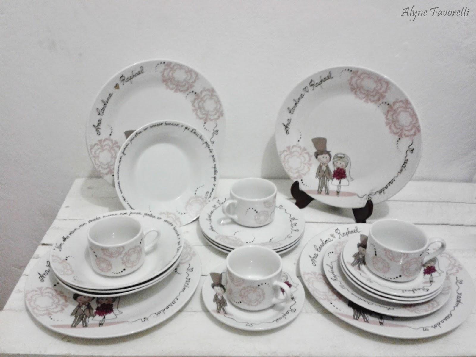 Alyne Favoretti: Aparelho de jantar com noivinhos #5B4948 1600x1200