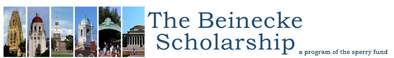 The Beinecke Scholarship