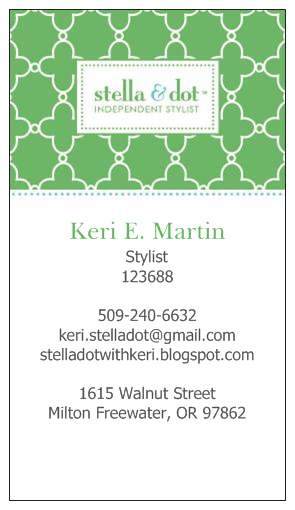 Stella dot with keri my new business card design my new business card design colourmoves
