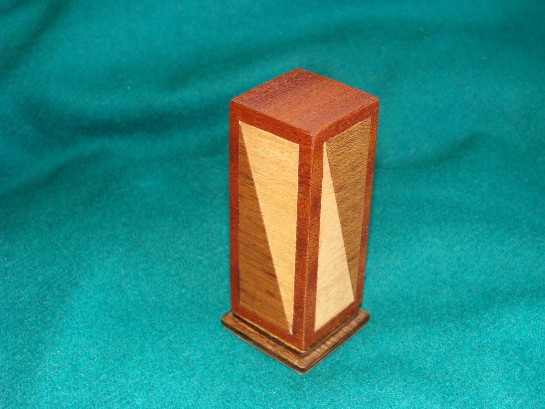 ARTESANIAS: Palillero de madera - Portaescarbadientes con marqueteria