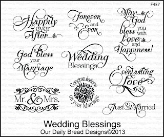 Stamps - Our Daily Bread Designs Wedding Blessings