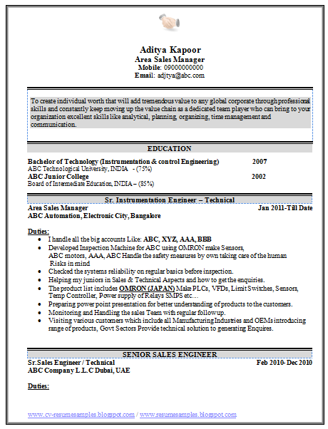 reference - Senior Automation Engineer Sample Resume