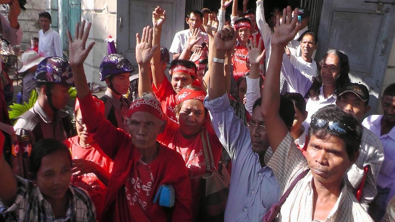 Yangon Globe News – ျမိဳ့ေတာ္ခန္းမသပိတ္စခန္း ၀င္ေရာက္စီးနင္းခံရ