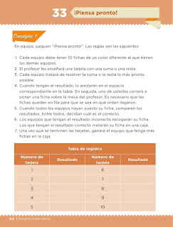 Apoyo Primaria Desafíos matemáticos 1er grado Bimestre 3 lección 33 ¡Piensa pronto!