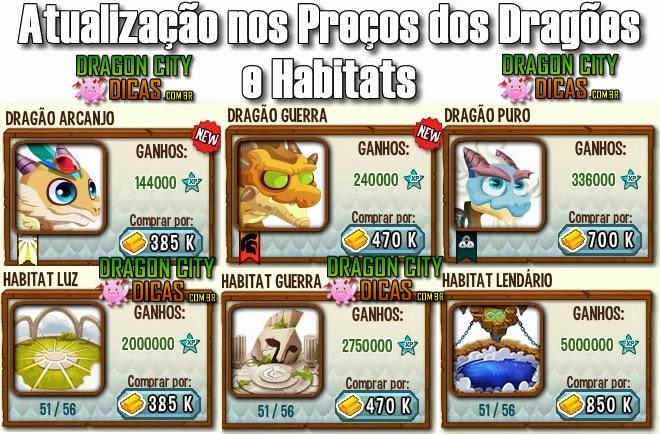 Atualização na Loja do Dragon City