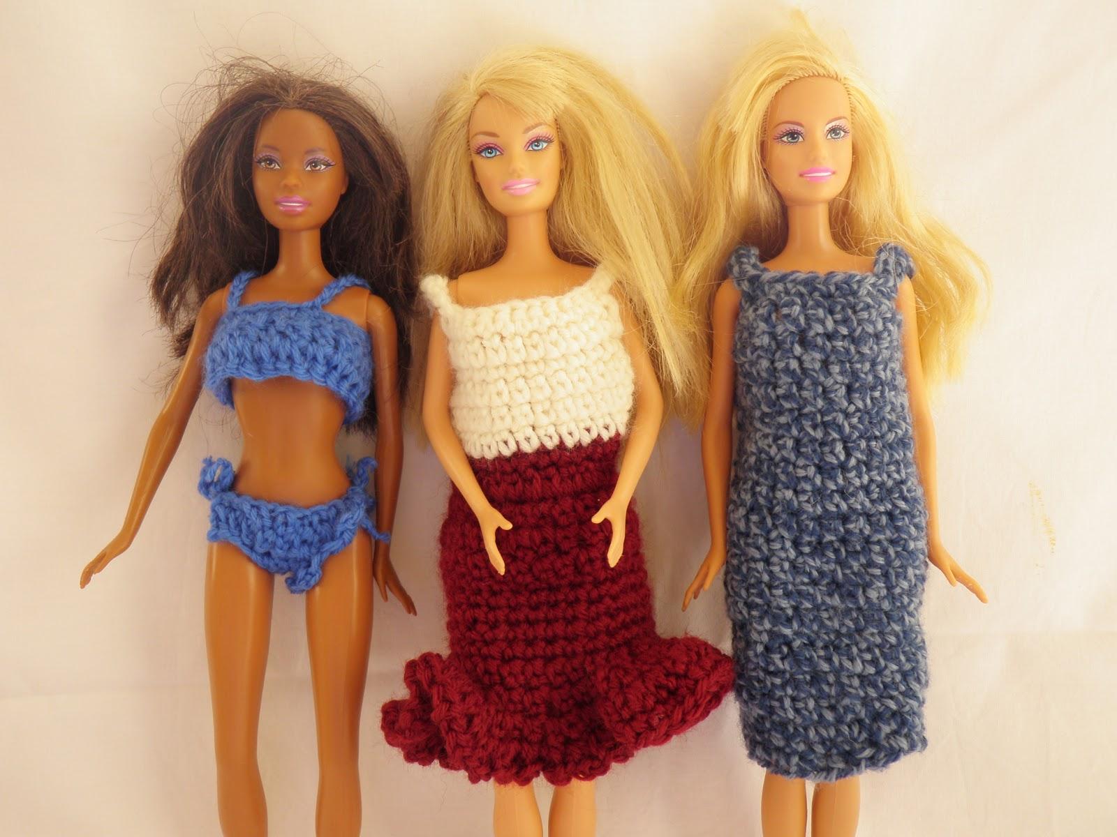 Ben noto Unconventional Mom: Vestiti per la Barbie all'uncinetto. KS57