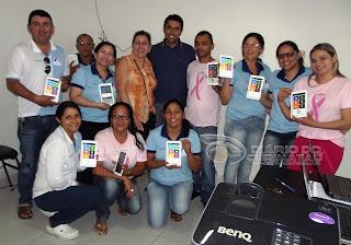 Baraúna é a primeira cidade do Seridó a fazer entrega de tabletes para Agentes de Saúde
