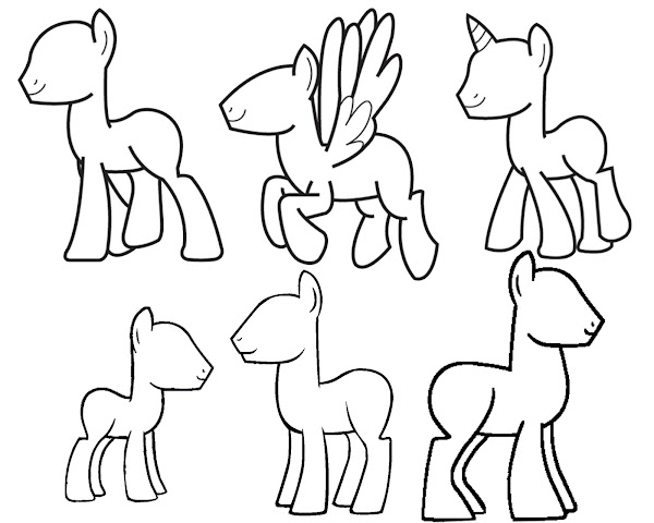 draw your own my little pony