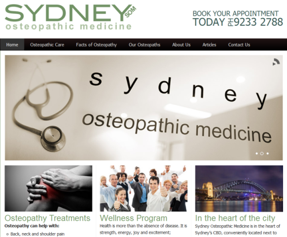 trusted Sydney osteopaths