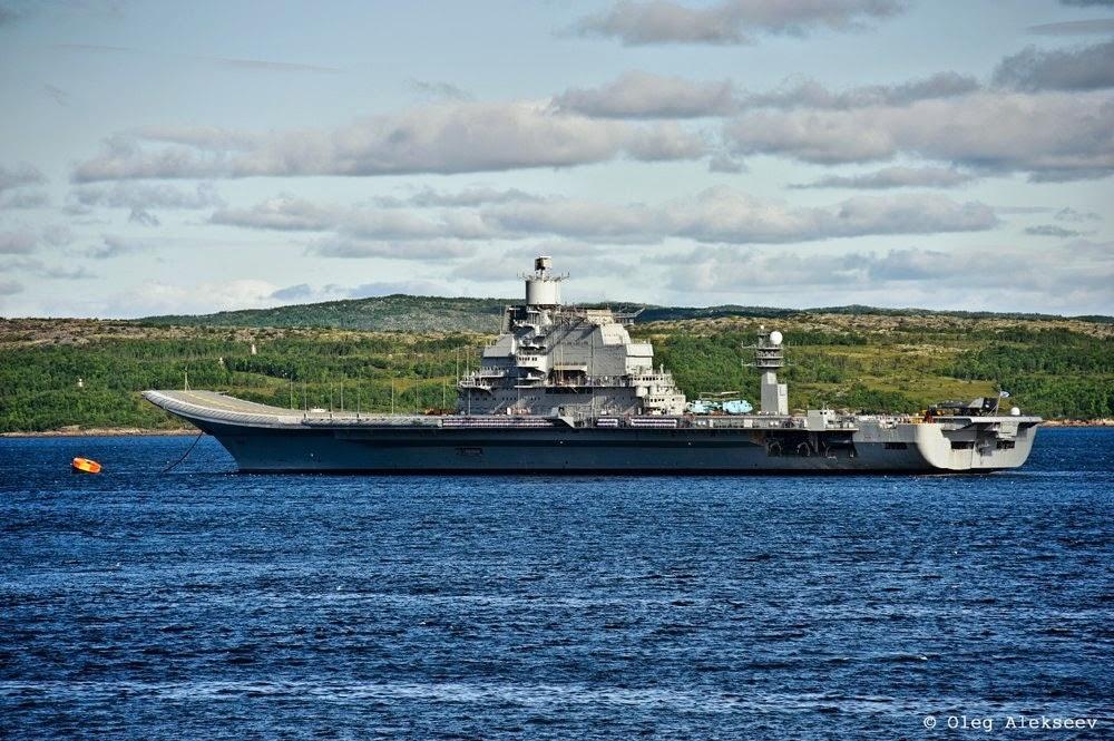 INS Vikramaditya at sea trials