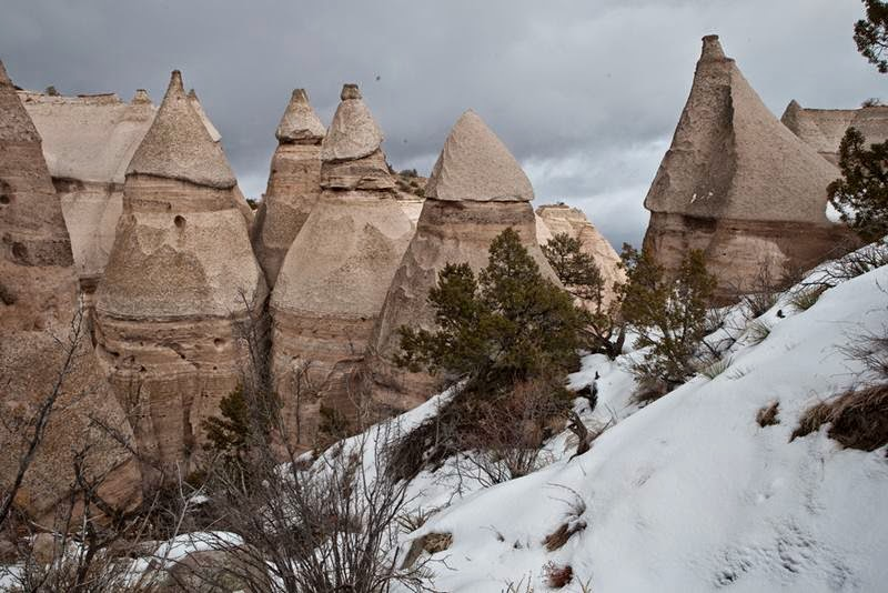 "The Kasha-Katuwe or else they are called ""Rock-Tents"" or ""Tent rocks"" located 60 km southwest of Santa Fe, a city in the state of New Mexico near near Cochiti, USA, is a Bureau of Land Management (BLM) managed site"