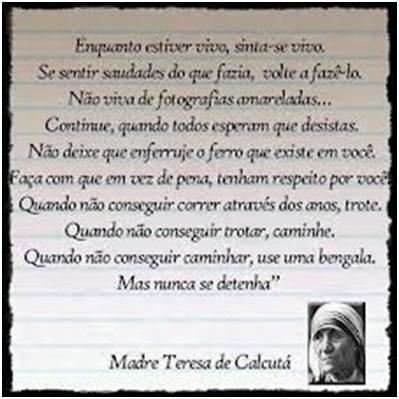 Cristo Minha Certeza Frase De Madre Teresa De Calcutá