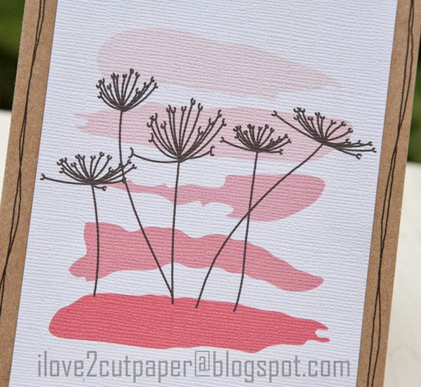 Dandelions with watercolor background