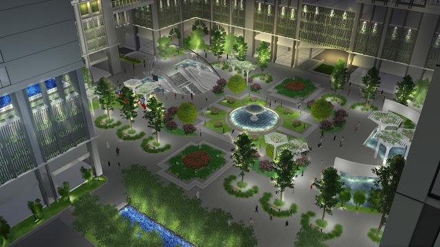Khuôn viên chung cư Eco green city