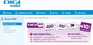 Bonos de llamadas a moviles españoles e internacionales