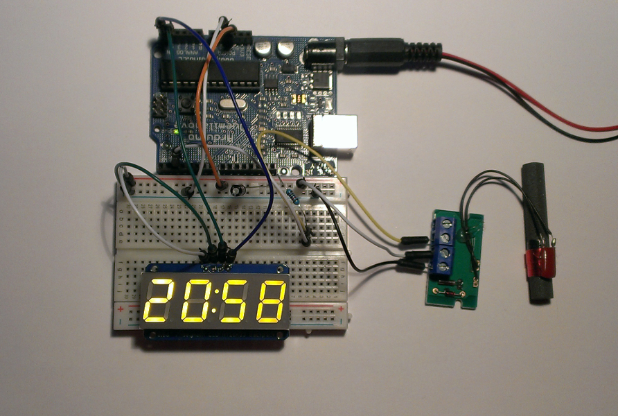 4 digits, 7 segments LED display multiplexing with Arduino