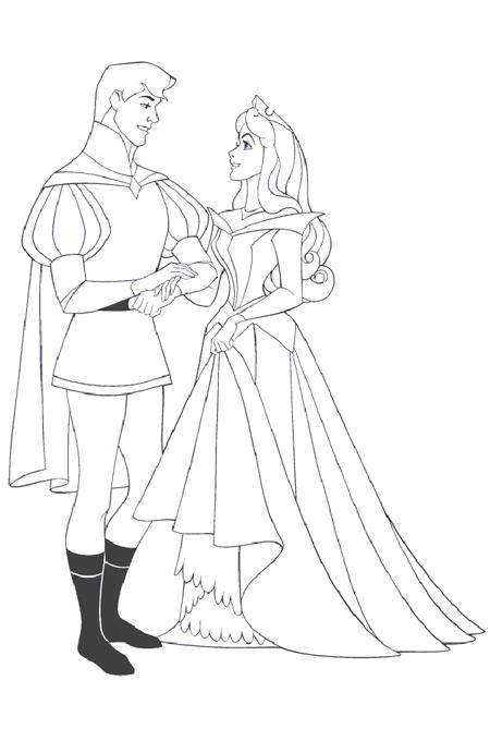 صورة رجل وفتاة يتزوجان لتلوين الاطفال