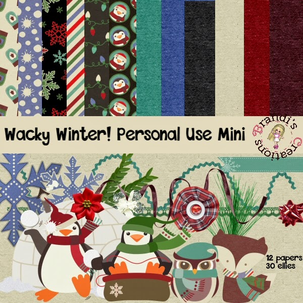 Free scrapbook Wacky Winter from Brandi's Creations– {PU}