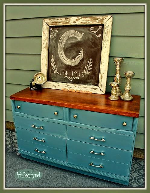 French Blue Dresser Makeover by Art is Beauty via Prodigal Pieces www.prodigalpieces.com