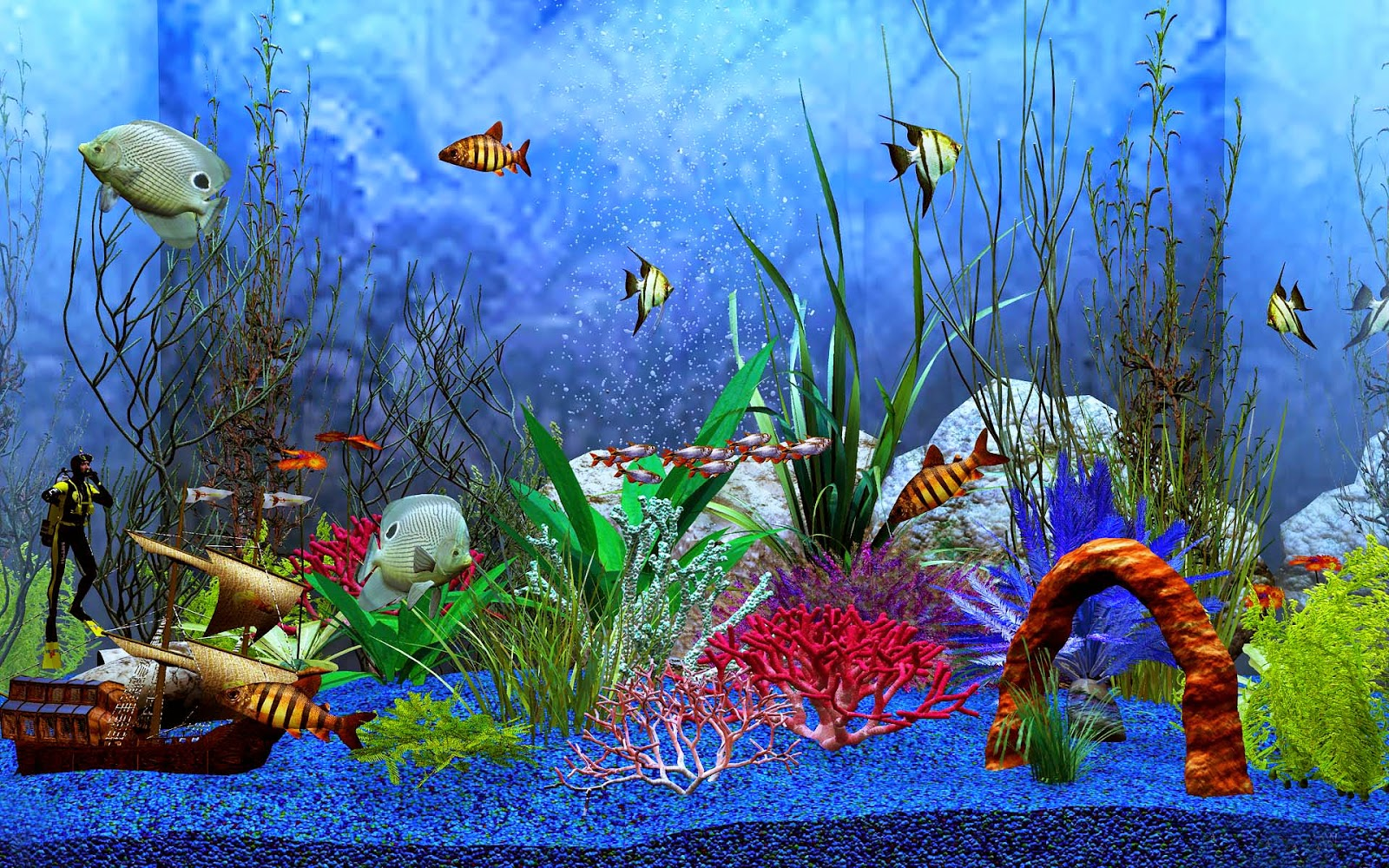 Bilder aquarium hintergrund hd hintergrundbilder for Seamless fish tank