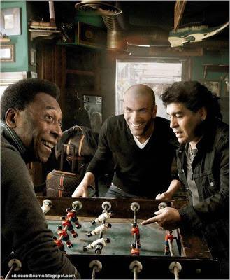 Pele Maradona And Zidane Playing Pinball Table Football Legends Of World Football Hd Desktop Wallpaper