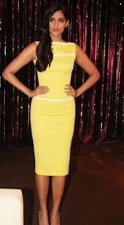 Sonam Kapoor Yellow Dress Pictures