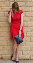 Outfit Red Dress And Glitter Mary Janes - Lizzy Loves