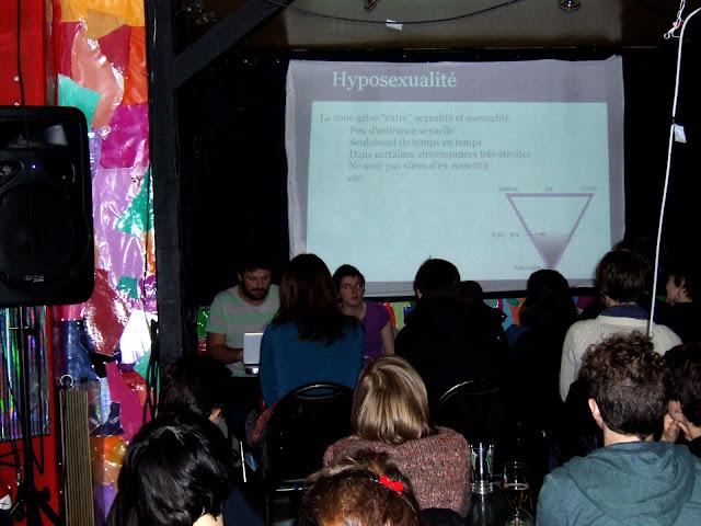 présentation sur l'asexualité par AVA à la Mutinerie