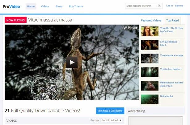 ProVideo drupal theme