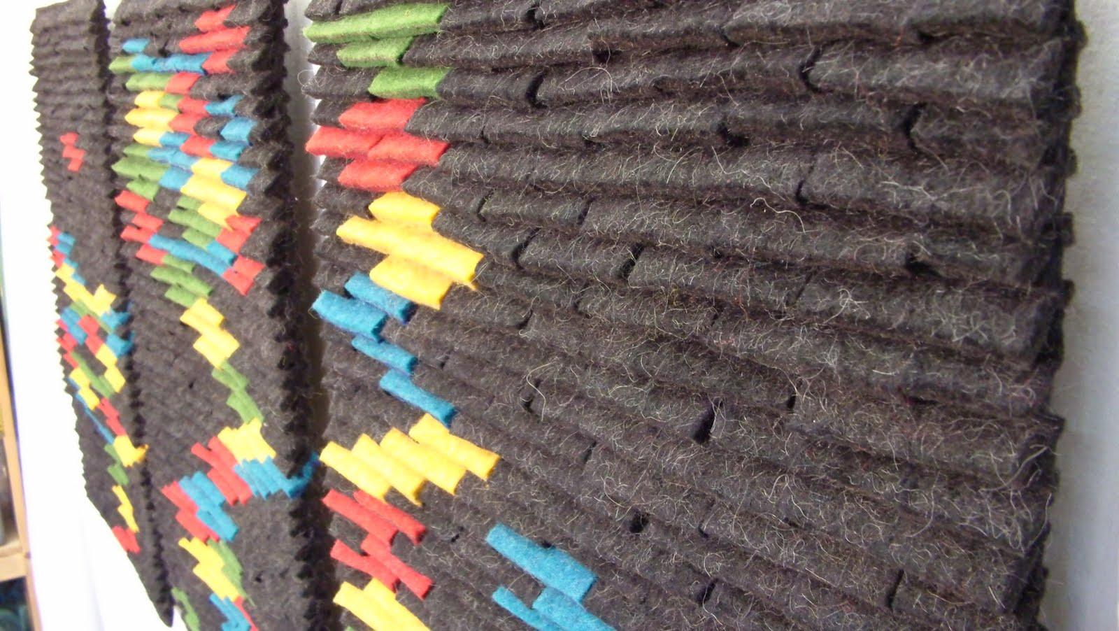 inside filzwerk 3 teiliger filz wand teppich. Black Bedroom Furniture Sets. Home Design Ideas