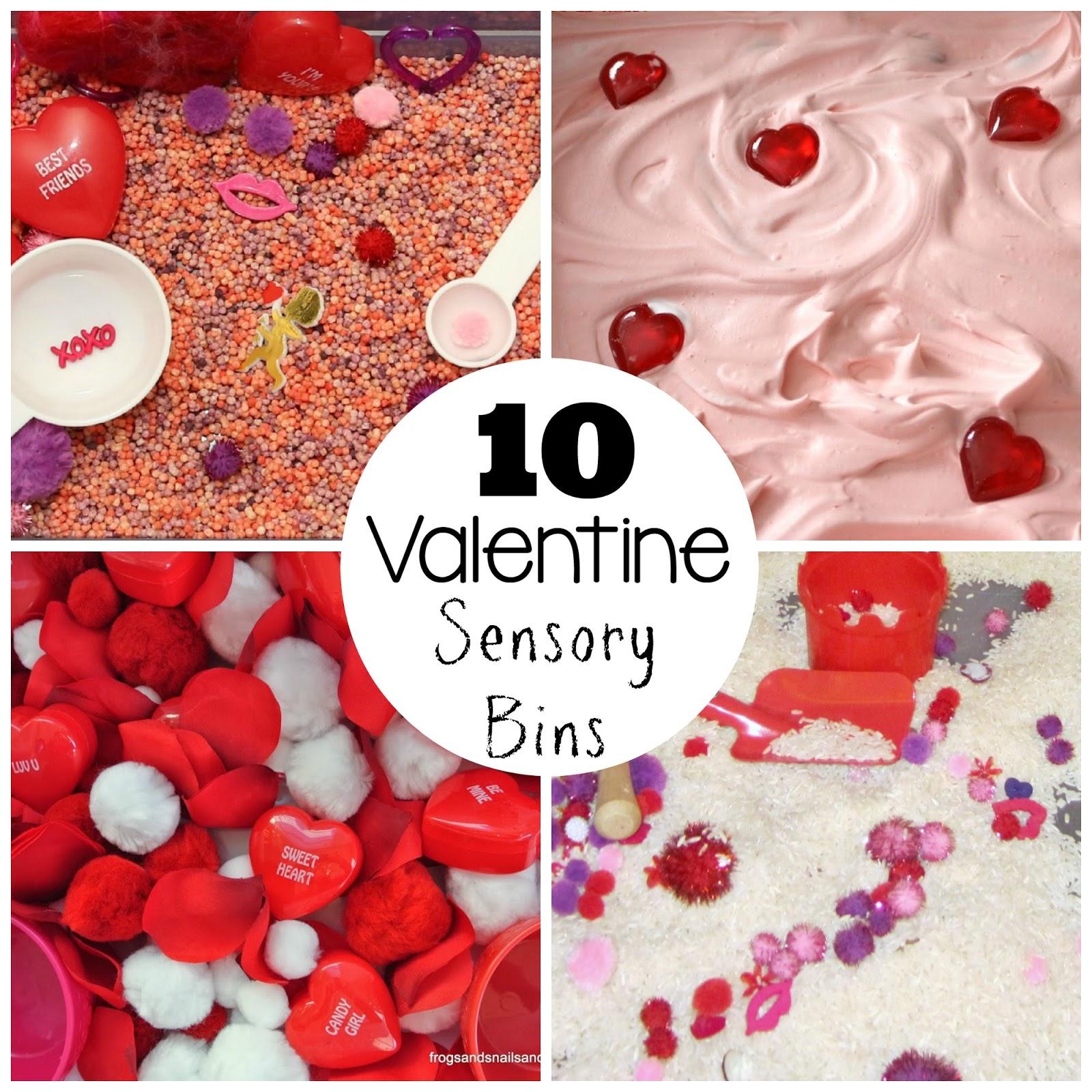 top 10 valentines day sensory bins - Valentines For School