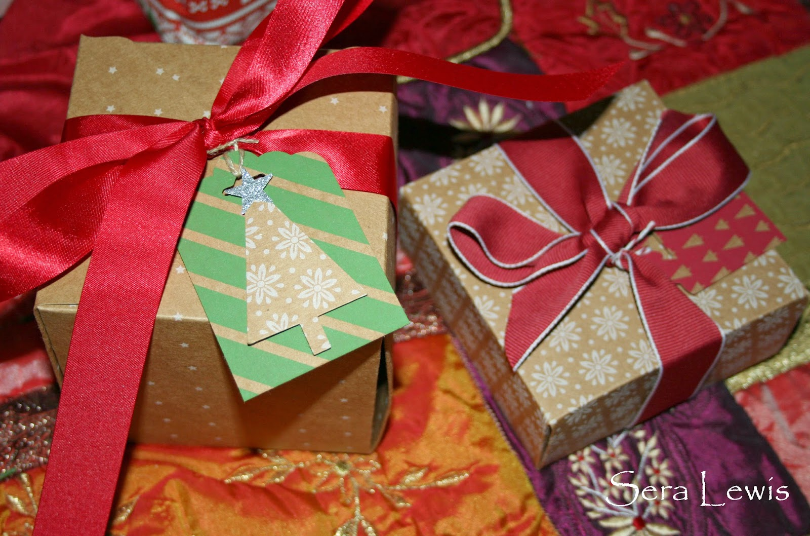Boxes that are made with the Stampin' Up! Gift Box Punch Board