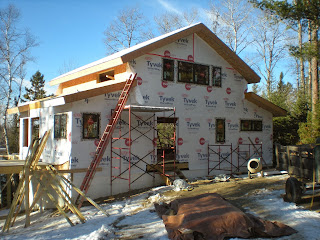 timber frame, SIP walls, tyvek, Ely mn, huismanconcepts.com