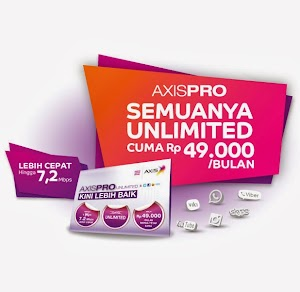 Paket Internet AxisPro Pas Buat Browsing,Streaming & Download
