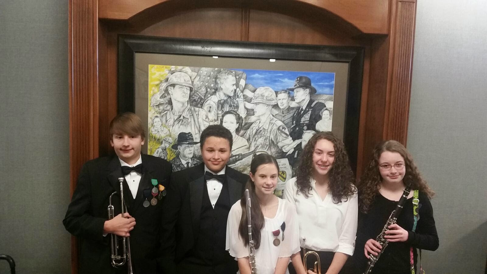 Montgomery Catholic Middle School Band Members at Auburn Honor Band Festival 1